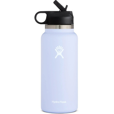 $31.59 • Buy Hydro Flask Wide Mouth 2.0 Water Bottle, Straw Lid -Fog