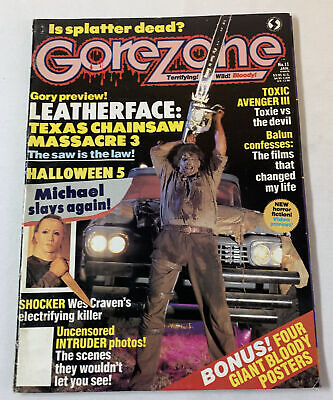 $9.95 • Buy 1990 GOREZONE #11~Texas Chainsaw Massacre 3 Leatherface,Halloween 5, More