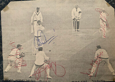 Signed X5 Derbyshire V Worcestershire County Cricket Club Autograph Team Group • 9.99£