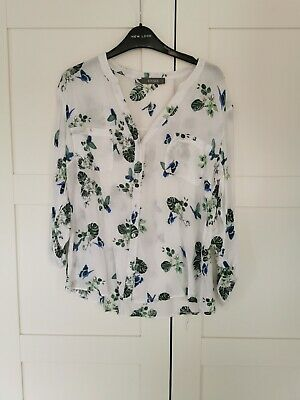 Oasis Butterfly Tropical Print Shirt Top • 4.30£