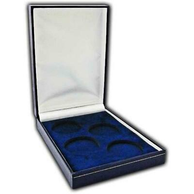 £14.65 • Buy Coin Medal Presentation Box Display Case Four Coin 44mm Navy Blue
