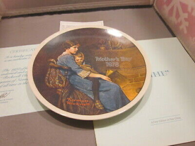 "$ CDN1.32 • Buy Norman Rockwell Collector Plates ""Bedtime"" Edition KNOWLES Mothers Day 1978"