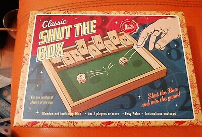 £10.99 • Buy Classic Shut The Box Wooden Game New Sealed Retro Bazaar Family Fun