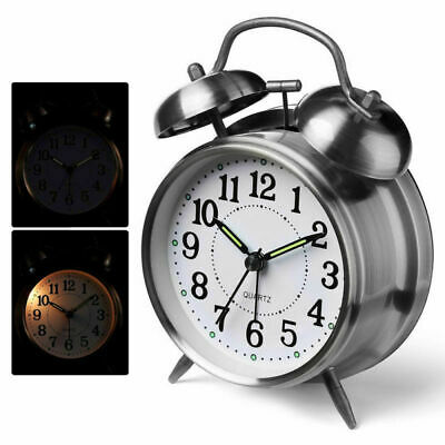 AU29.99 • Buy NEW Retro Loud Double Bell Clock Mechanical Key Wound Alarm Clock Kid Gift AU