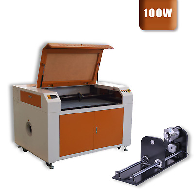 100W 900X600MM CO2 Laser Engraver Cutter Engraving Cutting Machine + Rotary Axis • 2,415.98£
