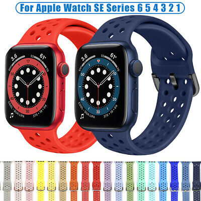 $ CDN4.30 • Buy Sport Silicone Wrist Strap Replace Band For Apple Watch Series 6 5 4 3 IWatch SE