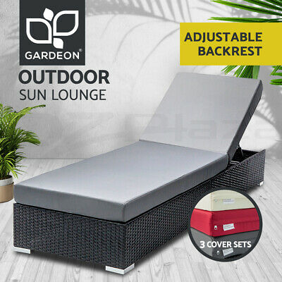 AU233.95 • Buy Gardeon Sun Lounge Wicker Lounger Outdoor Furniture Day Bed Rattan Garden Sofa