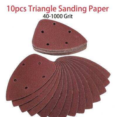 10 X Hook And Loop 140mm Detail Palm Delta Sanding Sheets / Mouse Sandpaper Pads • 5.98£