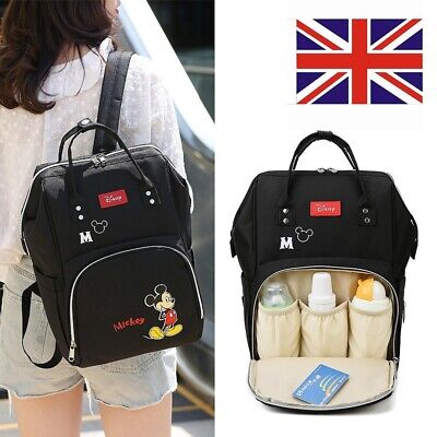 £18.99 • Buy Multi-Use Mickey Large Mom Baby Diaper Nappy Backpack Mummy Changing Travel Bag