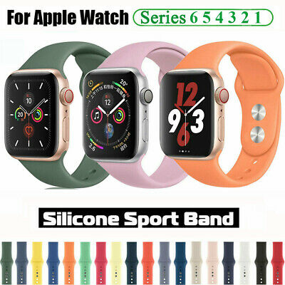 AU5.99 • Buy 38 40 42 44mm Silicone Strap Wrist Band For Apple Watch SE IWatch Series 6 5 4 3