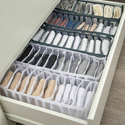 2Set Foldable Underwear Storage Box Compartment Underpants Bra Organizer Drawer- • 4.99£