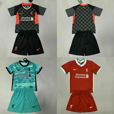 20-21 Football Club Full Kit Kids Boys Youth Soccer Jersey Strip Training Suits • 16.99£
