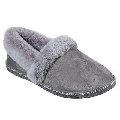Skechers Cozy Campfire Womens Ladies Grey Slip On Memory Foam Slippers Size 4-8 • 31.49£