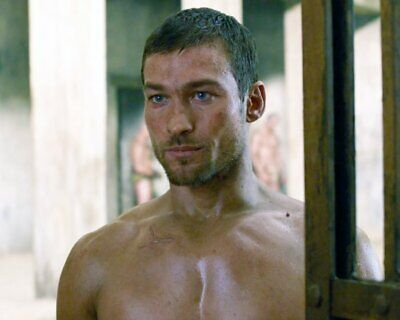 ANDY WHITFIELD Spartacus SHIRTLESS NEW  8X10 GLOSSY PHOTO ZBP 68 • 7.06£