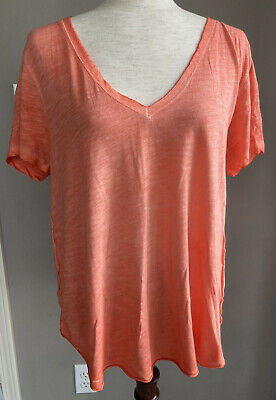$ CDN42.18 • Buy NEW Anthropologie Maeve Women's XS Arista Washed V-Neck SS Tee Coral