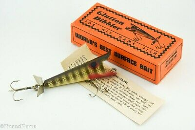 $ CDN17.33 • Buy Vintage Glutton DIbbler Minnow Antique Fishing Lure In Box With Papers JJ34