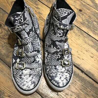 Ash Python Trainers, Leather Trainers, Side Zip Nearly New • 25£
