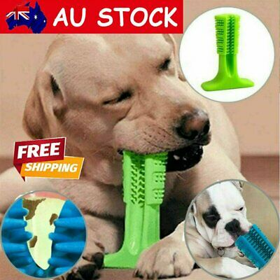 AU13.95 • Buy Dog Toothbrush Toy Clean Teeth Brushing Stick Pet Brush Mouth Chewing Clean GN