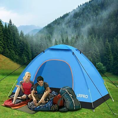 AU39.99 • Buy 2-4 Person Man Tent Folding Camping Hiking Outdoor Beach Tent Pop Up Tent Blue