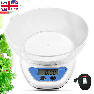 5kg Digital Kitchen Scales Lcd Electronic Cooking Food Measuring Bowl Scale Uk • 5.99£