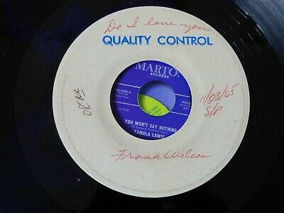 Northern Soul Detroit Motown Wigan Music Records Do I Love You Frank Wilson Demo • 80£