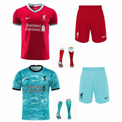 20-21 Football Club Full Kit Kids Boys Youth Soccer Jersey Strip Training Suits • 14.89£
