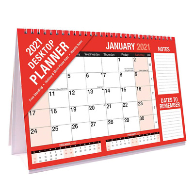 2021 Desk Top Flip Month To View Stand Up Office Home Planner Calendar Organiser • 3.19£