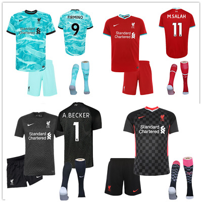 20-21 Football Club Full Kit Kids Boys Youth Soccer Jersey Strip Training Suits • 14.99£