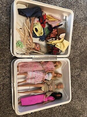 $ CDN25.84 • Buy Vintage Barbie Doll & Clothes Lot Accessories With Hard Travel Trunk