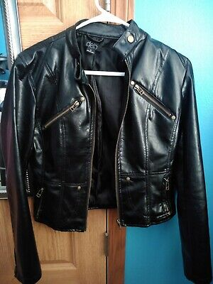 $45 • Buy Understated Leather Easy Rider Women's Black Motorcycle Jacket Size Small