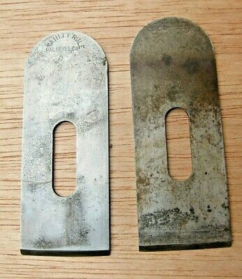 Two 1 5/8 W Block Plane Cutter.: Stanley & Ovb , Vintage Parts  • 7.13£