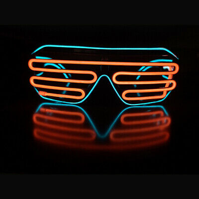 LED Shutter Shades Flashing Glasses Rave Club Party Fancy Dress Light Up MN UK! • 5.95£