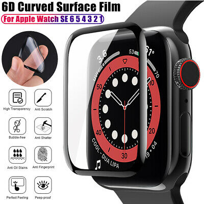 $ CDN5.75 • Buy 6D Full Cover Screen Protector For Apple Watch SE 6 5 4 3 2 Protective Film Soft