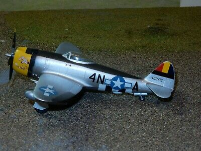Hasegawa Republic P-47D Thunderbolt Bubbletop 1/72 Scale Built Ready For Display • 10£