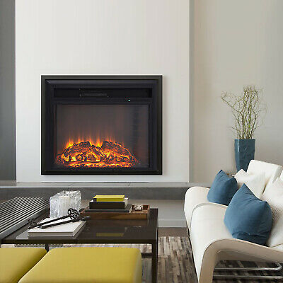 Compact Red Brick Effect Fireplace 26in Electric Wall Inset Fire LED Log Burning • 127.19£