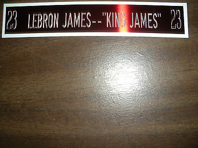 AU9.99 • Buy Lebron James Nameplate For Signed Ball Case/jersey Case/photo