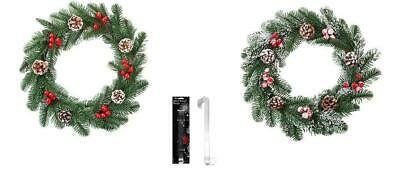 Christmas Wreath Berry Pine Cone With Door Hanging Hook • 10.16£
