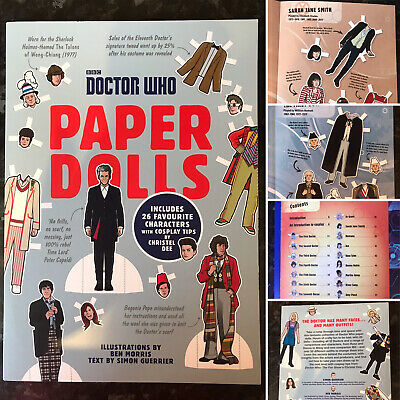 BBC Doctor Who Paper Dolls Book, 26 Paper Doll Characters, Brand New • 6.99£
