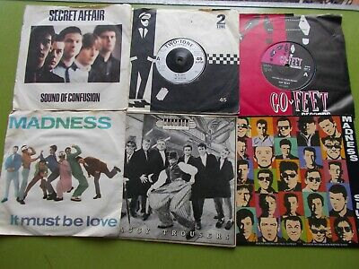 Two-tone  & Mod    6 X  7  Singles      Selecter. The Beat  Etc         All  Vg+ • 0.99£