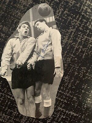 Signed Duncan Edwards Bobby Robson  Fulham FC Football Autograph England • 0.99£