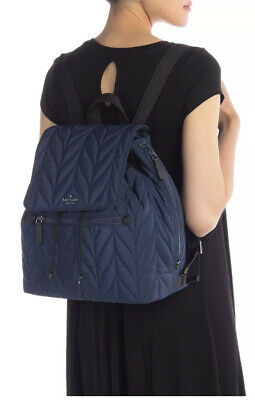 $ CDN144.99 • Buy Kate Spade Ellie Large Flap Quilted Nylon Backpack Nightcap (blue) $299 WKRU5825