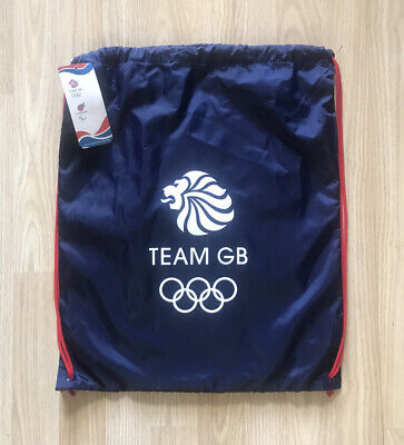 TEAM GB OLYMPICS OFFICIAL LONDON 2012 Sports Gymsack Backpack Bag BNWT • 4.99£