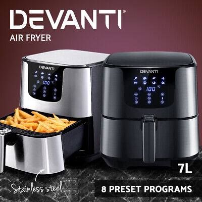 AU119.90 • Buy Devanti Air Fryer 7L LCD Fryers Kitchen Oven Airfryer Oil Free Healthy Cooker