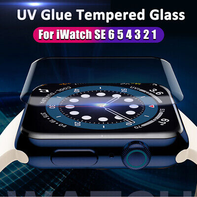 $ CDN3.75 • Buy Clear UV Tempered Glass Film Screen Protector For Apple Watch Series 6 5 4 3 SE