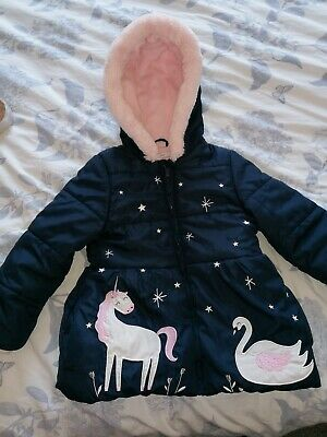 Girls Blue Zoo Coat 4-5 • 2£