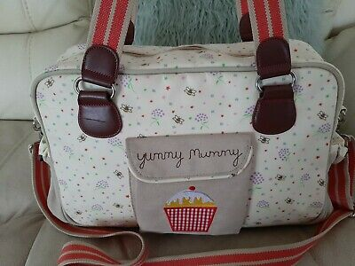 Yummy Mummy Baby Messenger Changing Bag Bumble Bee Unisex Pink Lining • 5£