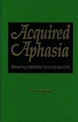 Acquired Aphasia By Sarno  New 9780126193220 Fast Free Shipping.= • 98.65£
