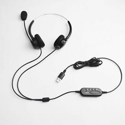 Office Headset USB Noise Cancelling Headphone +Mic Call Centre Office Telephone. • 10.36£