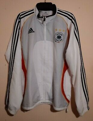 Germany National Football Team Vintage Home White Full Zip Track Top Adidas Xl  • 49.99£