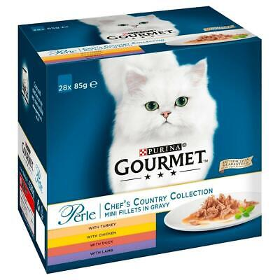 Purina Gourmet Perle Chef's Collection Mini Fillets In Gravy 28 X 85g Pouches • 9.99£